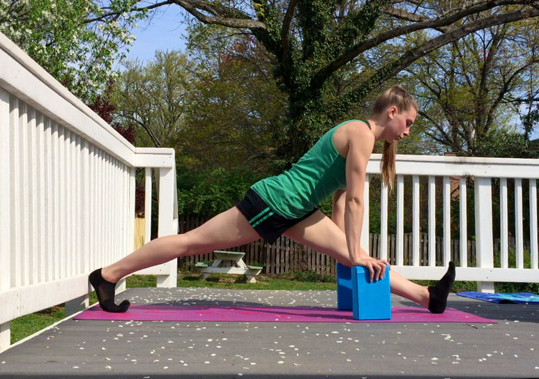 Yoga Block Supported Split