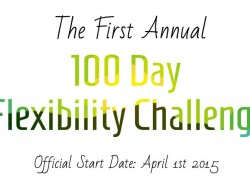 Tomorrow We Begin the Official 100 Day Flexibility Challenge!